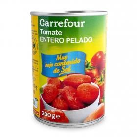 Tomates enteros contenido bajo de sal Carrefour 240 g.