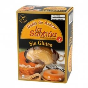 Dunis de azúcar La Santiña sin gluten pack de 2 unidades de 50g.