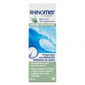 Spray nasal descongestionante intense eucaliptus Rhinomer 20 ml.