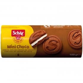 Galletas de cacao con crema de leche Schär sin gluten 100 g.