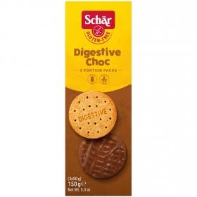 Galletas de chocolate con leche Schär sin gluten 150 g.