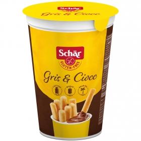 Palitos de pan con crema de cacao Schär sin gluten y sin lactosa 52 g.