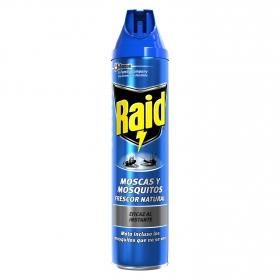 Insecticida moscas y mosquitos Raid 600 ml.
