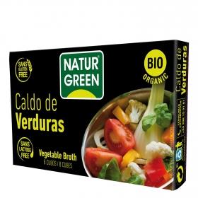 Caldo de verduras ecológico Naturgreen sin gluten y sin lactosa 84 g.