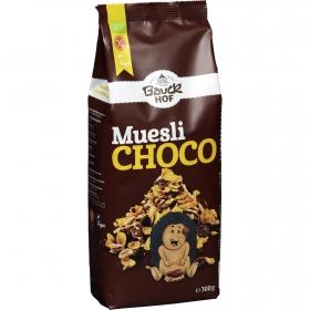 Cereales con chocolate negro Muesli ecológicos Bauck Hof sin gluten 300 g.