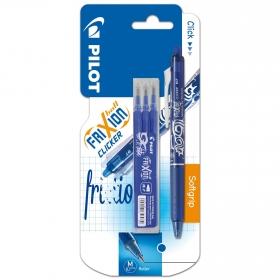 Bolígrafo Borrable Frixion Clicker Pilot Azul + 3 Recambios