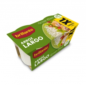 Arroz largo para microondas Brillante sin gluten pack de 2 ud. de 200 g.