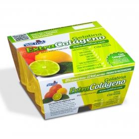 Gelatina sabor cítricos Yelli Frut pack de 4 unidades de 100 g.