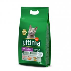 Ultima Pienso para Gato Esterelizado Sabor salmón 3kg