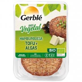 Hamburguesa de tofu y algas ecológica Gerblé Bio pack de 2 unidades de 80 g.