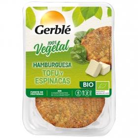 Hamburguesa de tofu y espinacas  ecológica Gerblé Bio pack de 2 unidades de 80 g.