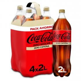 Refresco de cola Coca Cola zero zero pack de 4 botellas de 2 l.