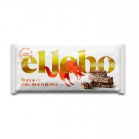 Turrón de chocolate crujiente El Lobo 150 g.