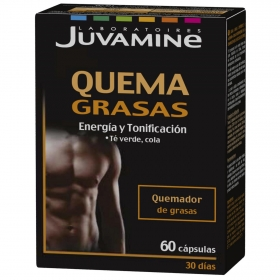 Quema grasas guaraná-cromo Juvamine 60 comprimidos.