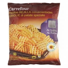 Patatas rejilla condimentadas Carrefour 600 g.