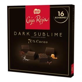 Bombones surtidos de chocolate negro 70% sublime Nestlé Caja Roja 16 ud.