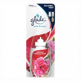 Ambientador Sense y Spray Peonia y Cereza recambio Glade by brise 1 ud.