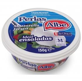 Queso mozzarella perlas Albe sin gluten 150 g.