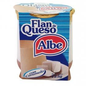 Flan de queso con caramelo Albe 125 g.