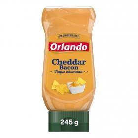 Salsa cheddar con bacon Orlando envase 235 g.