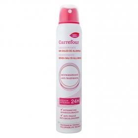 Desodorante en spray anti-manchas sin aluminio Carrefour 200 ml.