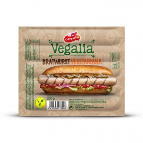 Bratwurst Campofrío vegalia sin gluten y sin lactosa 200 g.