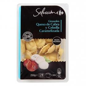 Girasoles de queso de cabra y cebolla caramelizada Carrefour Selección 250 g.