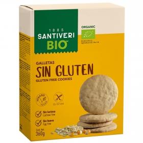 Galletas ecológicas Digestive Santiveri sin gluten y sin lactosa 330 g.