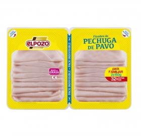 Pechuga de pavo bajo en grasa El Pozo pack de 2 unidades de 180 g.
