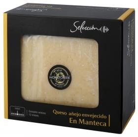 Queso de oveja envejecido en manteca Carrefour Selección cuña 220 g