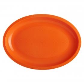 Bandeja Plástico CARREFOUR HOME  31,5 cm 4 ud - Naranja