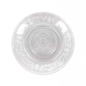 Plato Hondo de Vidrio HOME STYLE New Baroc 22x22cm - Transparente