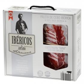Maletín paleta de cebo ibérica 50% raza ibérica lonchas Ibéricos de Antaño 16 sobres de 80 g 1.280 Kg