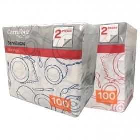 Servilletas 2 capas de Celulosa CARREFOUR HOME 33x12cm - Decorado