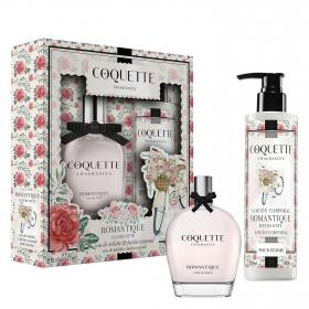 Estuche de colonia Romantique + loción corporal Coquette Fragances 1 ud.