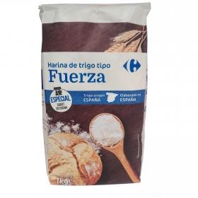 Harina de trigo de fuerza Carrefour 1 kg.