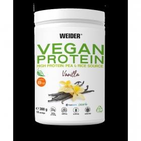 Proteína vegana de vainilla Weider 300 g.