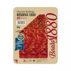 Chorizo bodega reserva Boadas 1880 sin gluten 80 g,