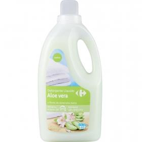 Detergente líquido aloe vera y flores de almendras Carrefour 40 lavados.