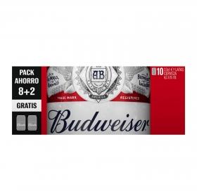 Cerveza Budweiser Lager pack de 10 latas de 33 cl.