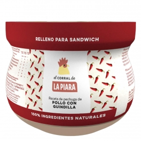 Relleno para Sándwich de pollo con guindilla La Piara 180 g.