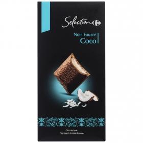 Chocolate negro relleno de coco Carrefour Selección 125 g.