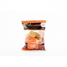Tostadas de pan con dulce de calabaza La gavilla Martiko 100 g.