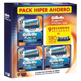 Recambio Fusion Proglide Gillette 9 ud.