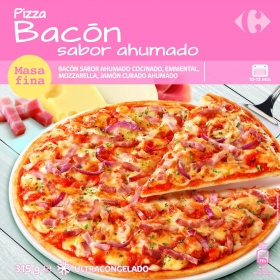 Pizza de bacon Carrefour 315 g.