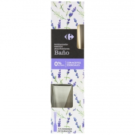Ambientador varillas absorbeolores baño Carrefour 45 ml.