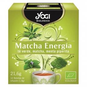 Infusión matcha energía en bolsitas ecológica Yogi 12 ud.