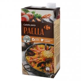 Caldo para paella Carrefour sin gluten 1 l.