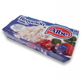 Requesón Albe sin gluten pack de 2 unidades de 150 g.