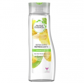 Champú frambuesa dorada & menta Detox diario refrescante Herbal Essences 400 ml.